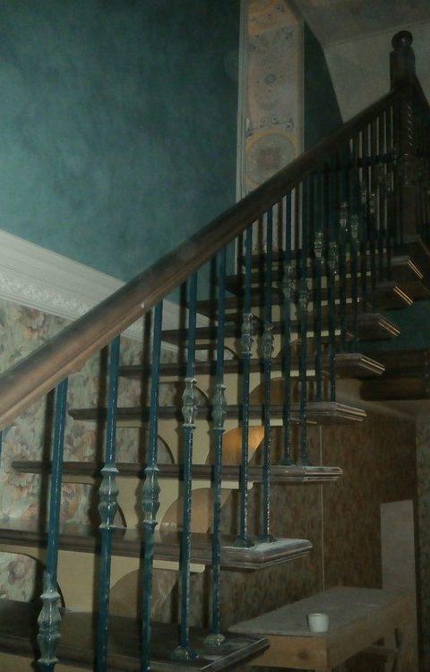 Лестница на центральном косоуре c009
