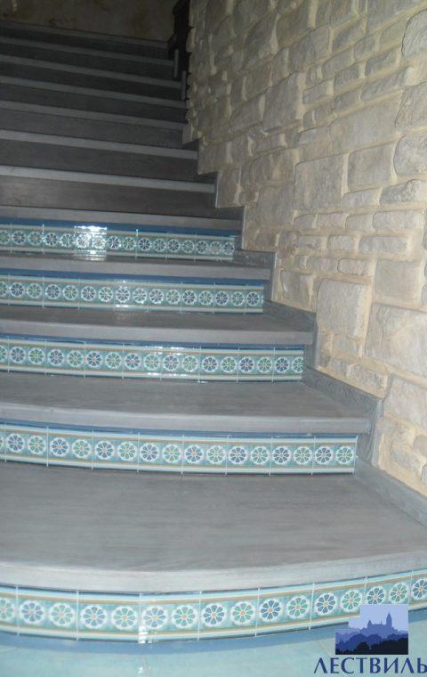 Лестница на бетоне bt001